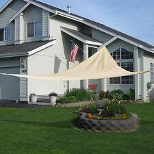 18' x18'x18'  Triangle Sun Shade Sail UV Top Outdoor Canopy Patio Lawn Beige