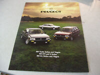 1985 PEUGEOT 505 Turbo Sedan and Wagon 505 STI,505 GL Brochure