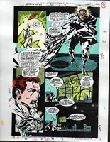 1993 Moon Knight 50 page 7 original Marvel Comics color guide comic art: 1990's
