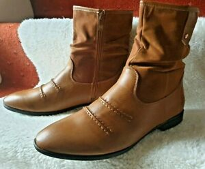 MENS WINTER BOOTS SMART FORMAL FASHION SUEDE WORK WARM SHOES SIZE 39 ( UK 6 )