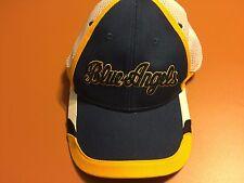 Blue Angels US Navy Blue Yellow White Mesh Hat Cap Airware American Flag 1 Sz