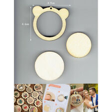 DIY Bear Shape Mini Wooden Cross Stitch Embroidery Ring Frame Machine'Fixed LC