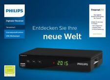 Philips DTR3442B DVB-T2 HD Receiver mit Netzwerk freenet TV Mediaplayer USB