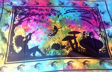 Rainbow Fairy tie dye scarf shawl hippy magic ethnic wall hanging tablecloth