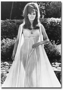 "Raquel Welch Sexy Dress Black & White Fridge Magnet Size 2.5"" x 3.5"""