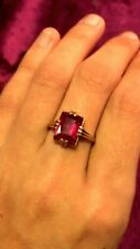 Antique 10k Solid Gold Garnet Ring. Sz 5 3/4 A Real Beauty!