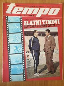 sport magazine TEMPO #172 football Miljan Miljanic Red Star Bobek Partizan 1969