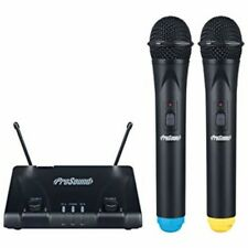 Prosound N45QR UHF Twin Dual Handheld Wireless Radio Microphone Kit inc Warranty