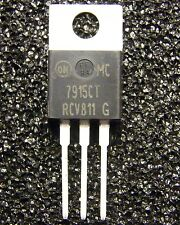 10x MC7915CT Negative Voltage Regulator -15V/1A, On Semiconductor