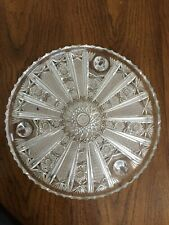 Cut Glass Footed Cake Plate  Serving Tray
