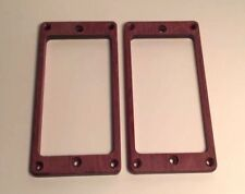 Guilford Purpleheart pickup ring set for PRS guitar - Flat - Recessed Holes