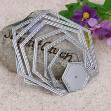 Hexagon Metal DIY Cutting Dies Stencil Scrapbook Album Paper Card Embossing Gift