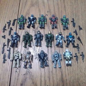 Mega Bloks Construx Halo Lot Of 16 Figures With Weapons