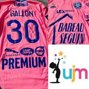 maillot de foot porté et dédicacé par Gauthier GALLON saison 2021-2022