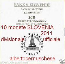 2011 SLOVENIA 10 monete 8,88 EURO slovenie slovenja Slowenien Словения 2 e 3 €