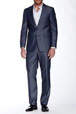 NWT$650 Calvin Klein Herringbone Two Button Notch Lapel Suit Slim Fit 44R /42S