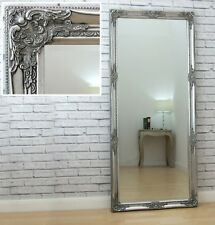 Isabella Full Length Silver Shabby Chic Leaner Wall Floor Mirror 163cm X 72cm