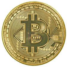 1 Pc Nouveau Rare Collectible En Stock Or Fer Bitcoin Commémorative Pièce Cadeau