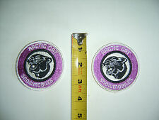 """Vintage Arctic Cat Cat-Head 3"""" patch purple/silver/black and white (one) """"LooK"""""""