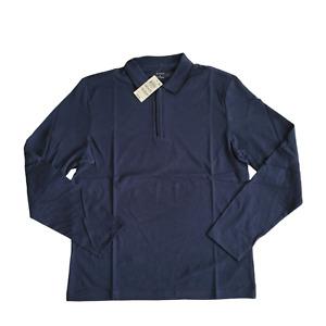 Alfani   Men's Tipped Collar Polo Neo Navy   Medium