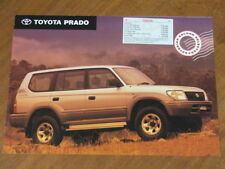 1998 Toyota Prado original Australian 4 page colours & specification brochure
