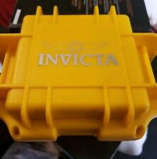 Waterproof Box Watch Case Storage Jewlery Invicta Yellow Heavy Duty Hard Plastic
