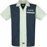 Dickies 2-Tone Bowlingshirt Workshirt Hemd 50er Rockabilly Hot Rod Oldschool neu