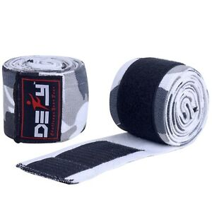 """DEFY Weight Lifting Knee Wraps Training Fist Straps Power Lifter Gym Support 78"""""""