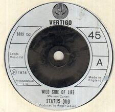"STATUS QUO Wild Side Of Life 7"" B/W All Through The Night, 6059 153, Plain White"