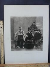 Rare Antique Original VTG Quartette Quartet William T Dannat Engraving Art Print