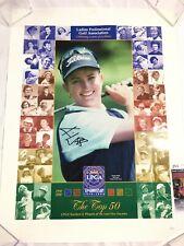 Karrie Webb Signed 18x24 Poster LPGA JSA COA