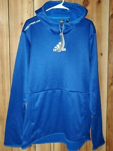 NWT Adidas Men's Badge Of Sport Fleece Hoodie Size Large Tall