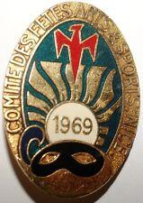 INSIGNES - Insigne Carnaval de Nice 1969 Comite des Fetes Arts & Sports (8962 M)