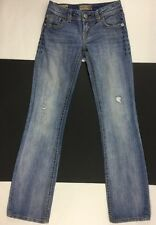 MEK SLIM BOOT THICK STITCH DISTRESSED RIPPED TORN JEANS SIZE 24