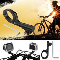 Aluminum Alloy Long Bicycle Handlebar Clamp Clip Mount for Gopro Hero 5 4 3