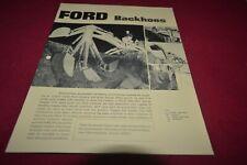 Ford Tractor Backhoes Dealer's Brochure AMIL15 ver2