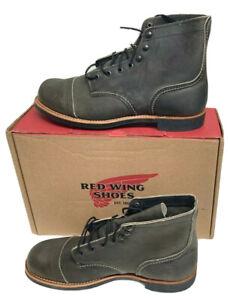 "Red Wing Heritage Men's Iron Ranger 6"" Vibram Boot, Iron Ranger Charcoal, Size 9"