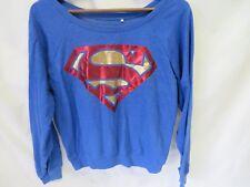 Superman DC Comics Sweatshirt Crew Neck Long Sleeve Junior Size XL (15/17) #6331