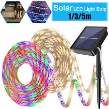 Solar Power Light Strip RGB/Warm White 2835 LED Waterproof Outdoor Garden Decor