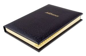 Deluxe Quality UK Made Real Montana Leather Address Book A-Z 170mm x 125mm New