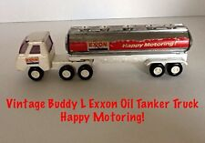 VINTAGE COLLECTIBLE BUDDY L EXXON HAPPY MOTORING! OIL TANKER TRUCK Cab & Tanker