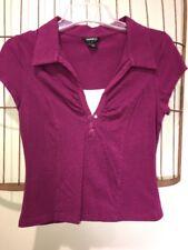 Anxiety Purple Sleeveless Top Shirt Women's XL