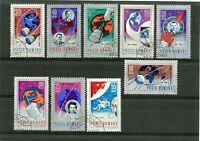 RUMANIA / ROMANIA   año 1967  yvert nr. 2273/77C.A. 210/ 213 usada cosmos