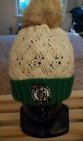 * Women's Faux Fur Pom - Boston CELTICS Winter Hat - New Fan Favorites *