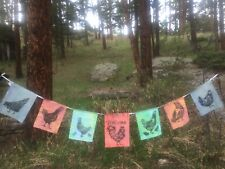 7 ft Welcome chicken coop farmhouse rustic garden patio flag signs
