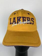 Lakers Strapback Yellow Hat Cap Adjustable The Original Colosseum LA Los Angeles