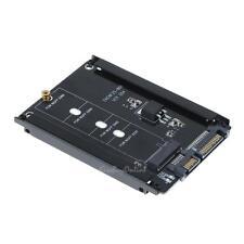 "Metal Cased CY B+M Socket 2 M.2 NGFF (SATA) SSD to 2.5"" SATA Adapter Black"