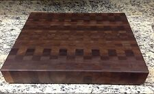 "Cutting Board 3"" Thick Walnut Butcher Block End Grain 18 X 22 Dark Brown Wood"