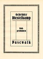 Rohprodukte Diestelkamp Pasewalk XL Reklame 1924 Werbung +