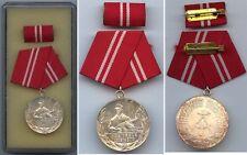 DDR Medaille Kampfgruppen der Arbeiterklasse in Silber
